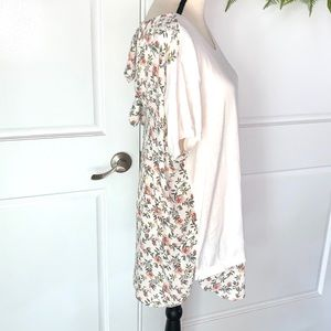 Loft Floral And Bow Tie Back Top XL